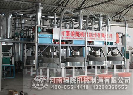 石磨面粉机各个研磨阶段对小麦的处理方式